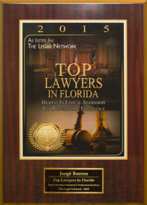 award-jorge-borron , Civil Litigation Attorney